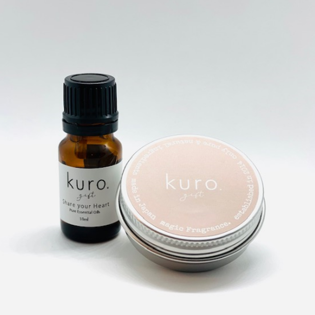 kuro.gift アロマオイル & ディフューザー セット  Share your Heart