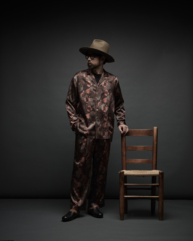 Nu Pajamas Wide Slacks 柄生地 Mens【20AW先行受注商品】