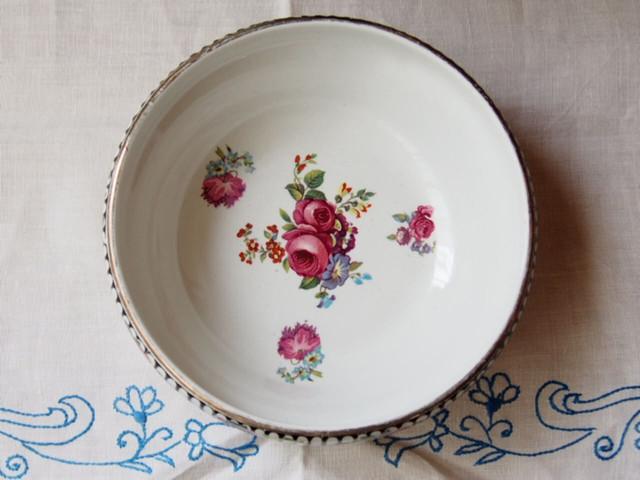 イギリスアンティーク 花柄のボウル