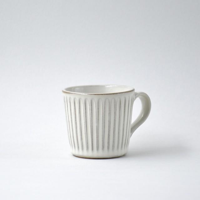 飴釉しのぎマグカップ