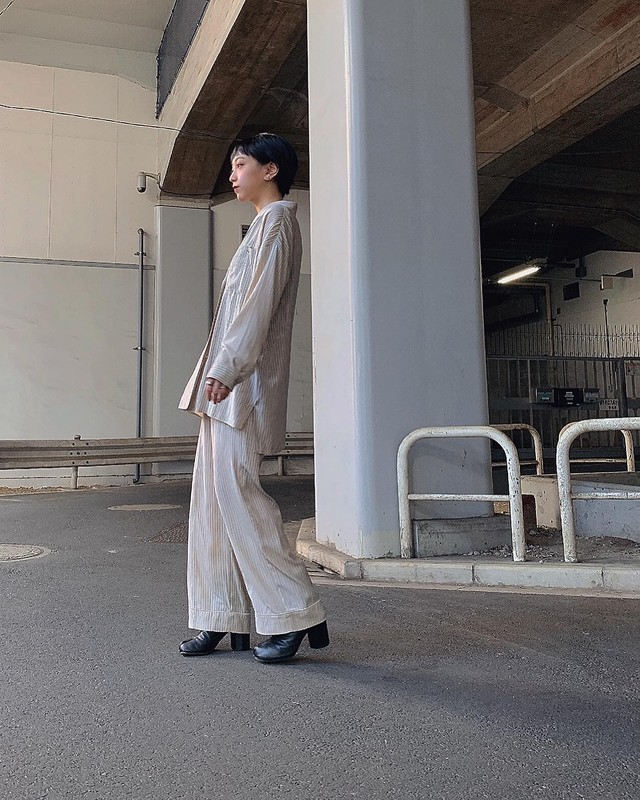 CaNARi 2020aw shirt & slacks two-piece set