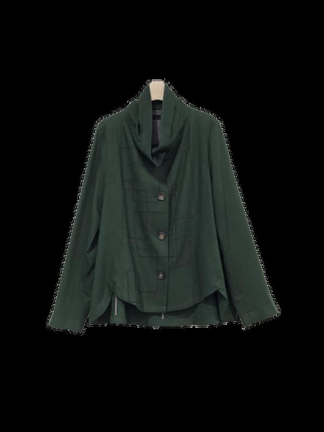 【再値下げ】ウール混ツイル コード刺繍ジャケット【204-4142】