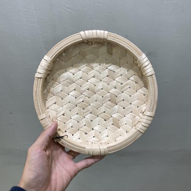 イタヤ細工 鉄線編み|丸皿