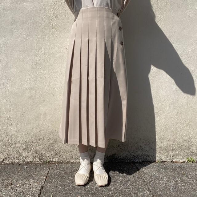 サイドボタンプリーツスカート[2102-25]