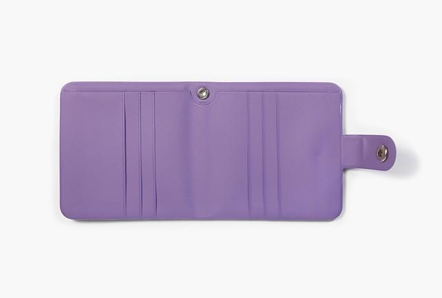 [PT-43] 「HAPPY」 エナメル二つ折り財布
