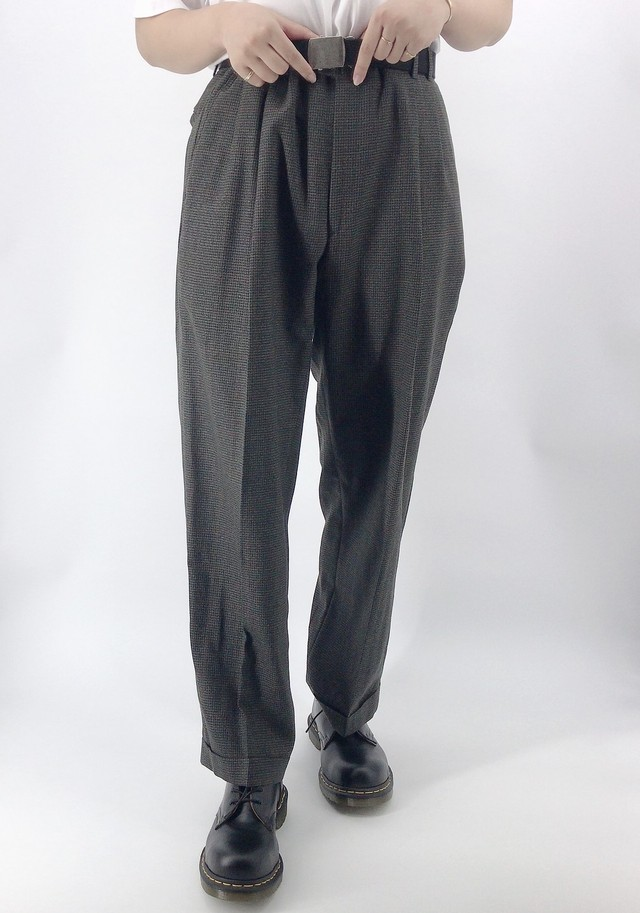 [used] mode colour wide pants