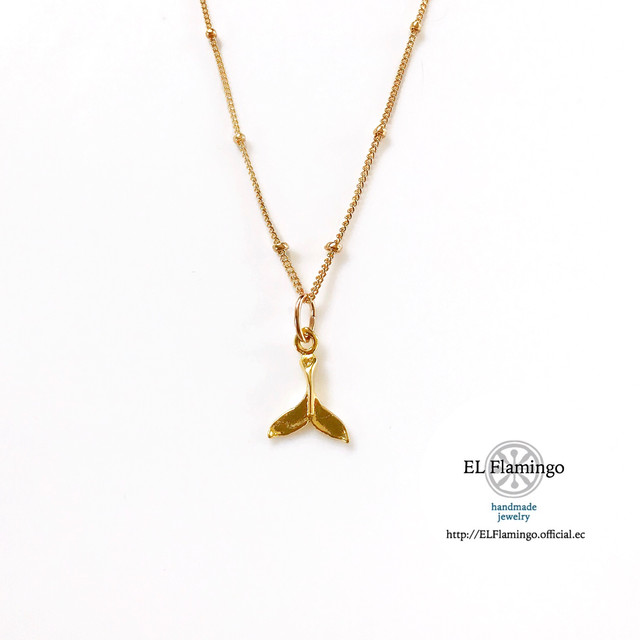 ◀︎◀︎⠀再入荷⠀▶︎▶︎ Dolphin tail Necklace /14KGF