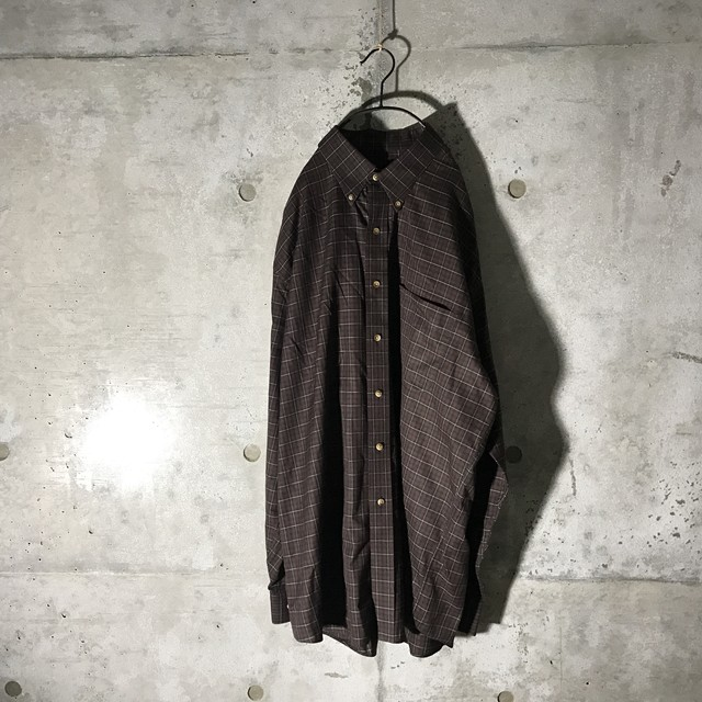 [used] 2XL baked brown checked shirt