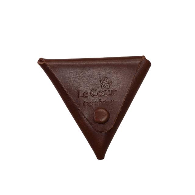 かばん屋さんのコインケース(チョコ)かわいい Le Coeur