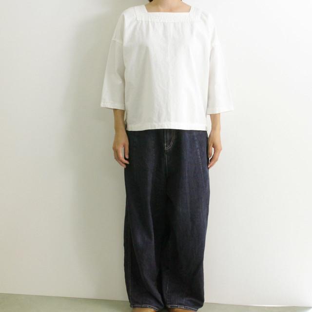 BROCANTE ブロカント  マリーヌシャツ 36-183X 綿麻7分袖 プルオーバーシャツ