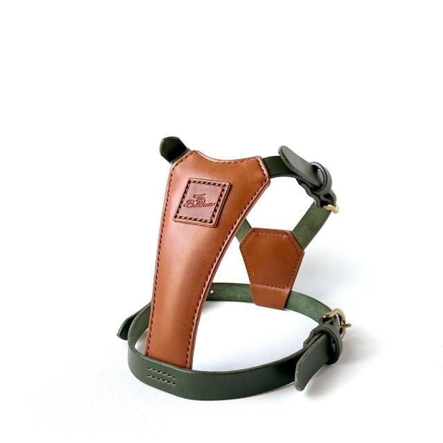 Leather Harness  キャメル×グリーン