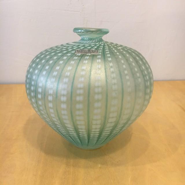 "KOSTA BODA /コスタボダ ""Minos"" art glass vase  Bertil Vallien  B.ヴァリーン ブルー"