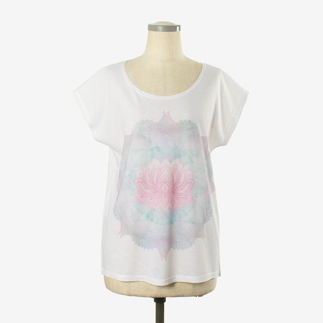 ヨガプリントTシャツ パドマ2 Yoga print T-shirt Padma2
