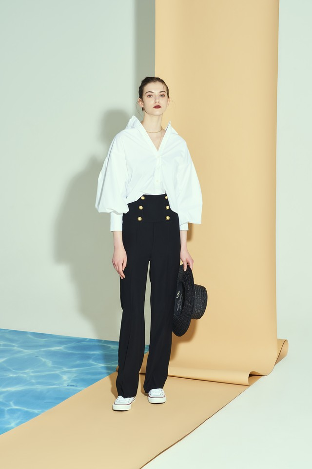 volume sleeve sh blouse