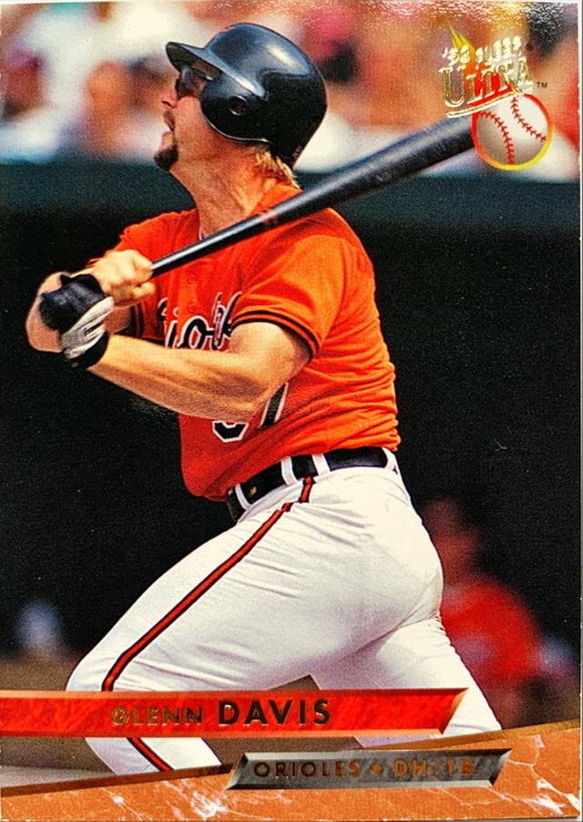 MLBカード 93FLEER Glenn Davis #139 ORIOLES
