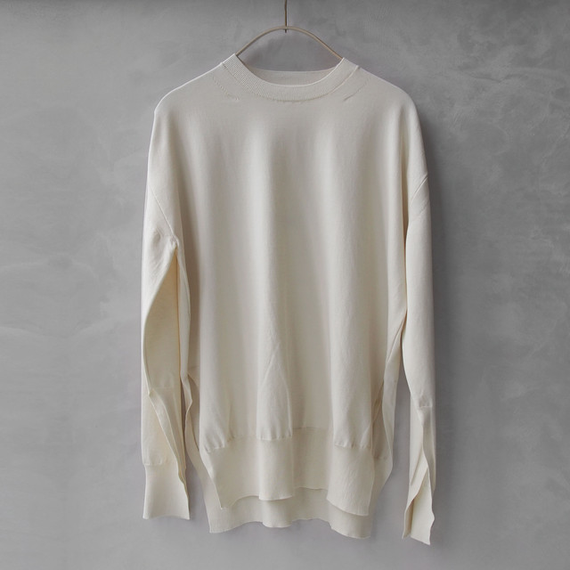 AURALEE:SUPER HARD TWIST KNIT P/O IVORY