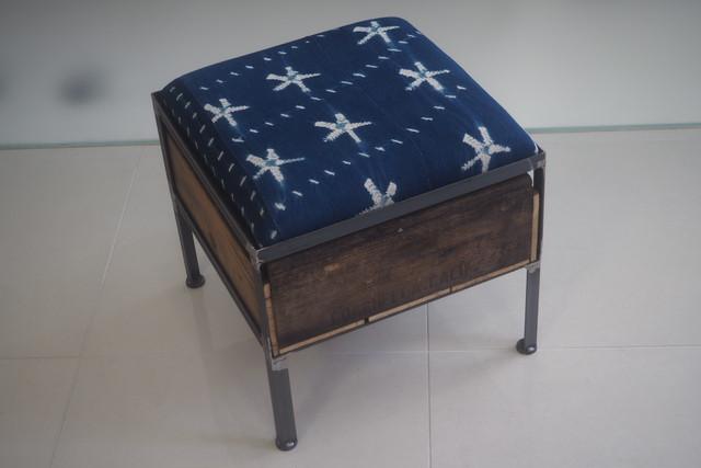 品番UAI1-101  1drawer ottoman[narrow/ African indigo]