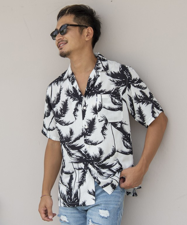 PARM TREE ALOHA SHIRTS[RES030]