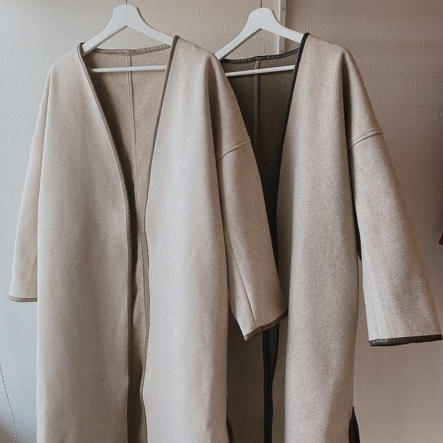 Double face piping coat