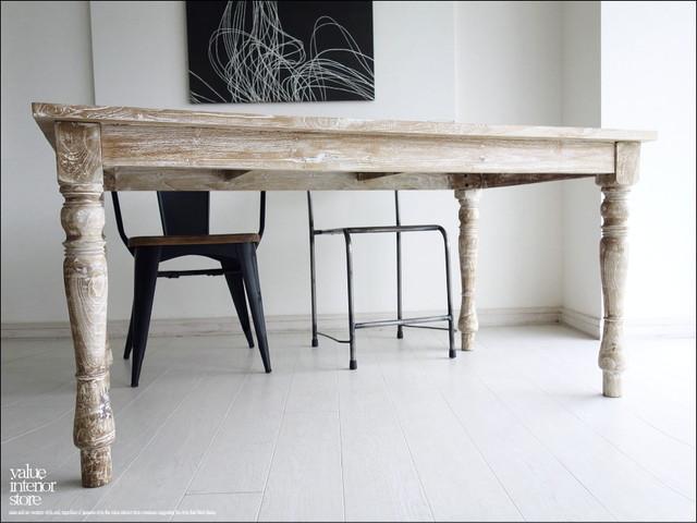 無垢 オールドチークダイニングテーブルLW 食卓テーブル デスク 木製 ハンドメイド 天然木 銘木 机 シンプル 総無垢 幅150cm×奥行き90cm