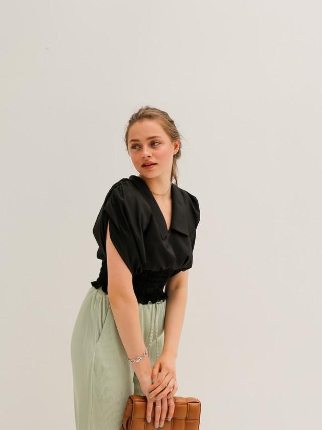 ready for summer blouse(black)