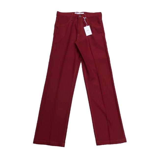 DAIRIKU 21AW Straight Flasher Pressed Pants (Bordeaux)