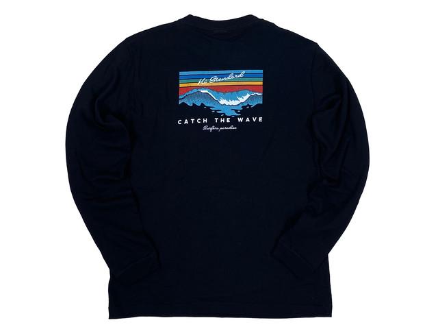 即日出荷【Catch the wave long sleeve】/ black