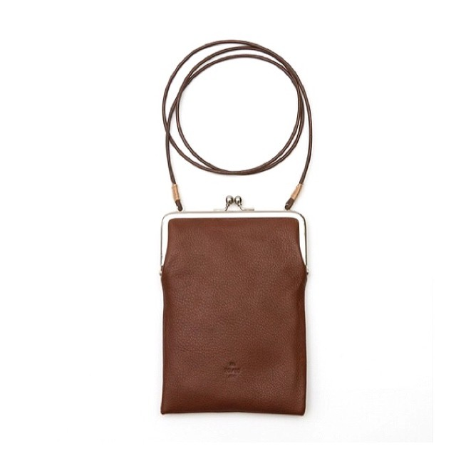 20/80(SHRINK LEATHER GAMAGUCHI SQUARE SHOULDER BAG)