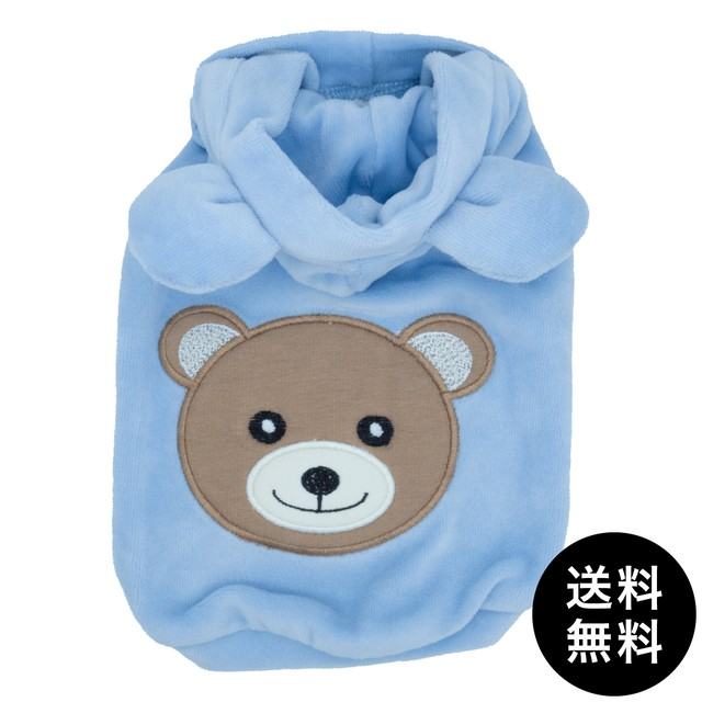 Sparkling DOG(スパークリングドッグ)SPARKLING BEAR SWEATSHIRT/BABY BLUE ゆうパケット送料無料