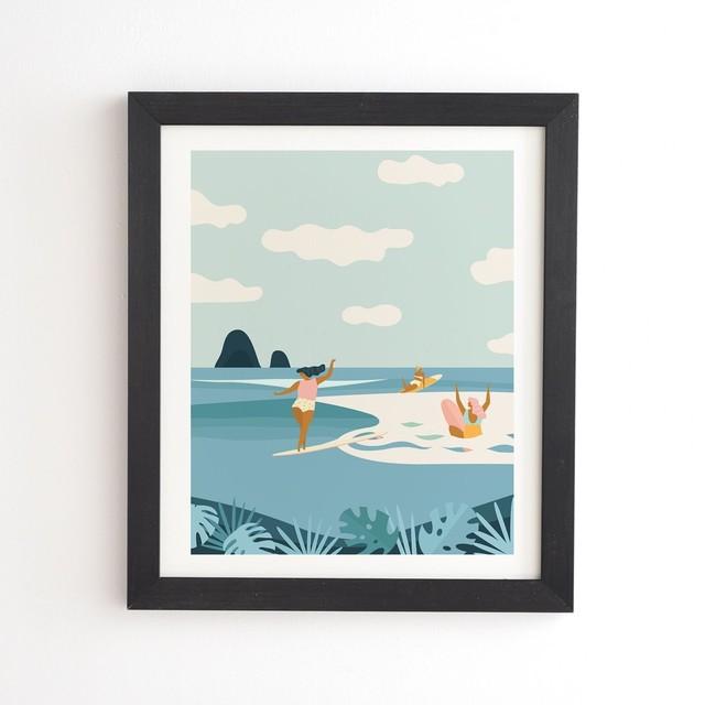 フレーム入りアートプリント WAVE SISTERS BY TASIANIA【受注生産品: 10月下旬頃入荷分 オーダー受付中          】
