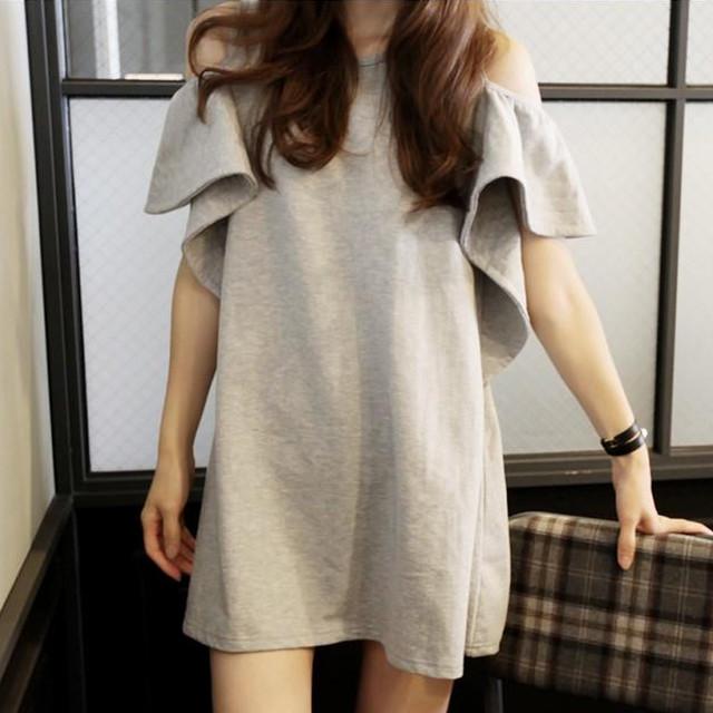 【dress】大人しい可愛い綺麗ハート柄フィッシュテールミドル丈ワンピース