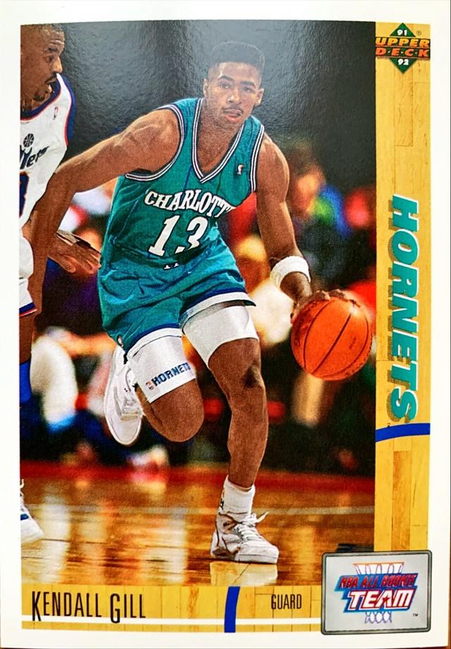 NBAカード 91-92UPPERDECK Kendall Gill #39 HORNETS
