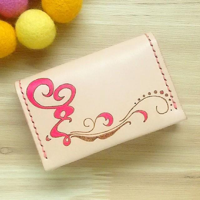 オトナ☆かわいい カードケース 名刺入れ 本革 ピンク