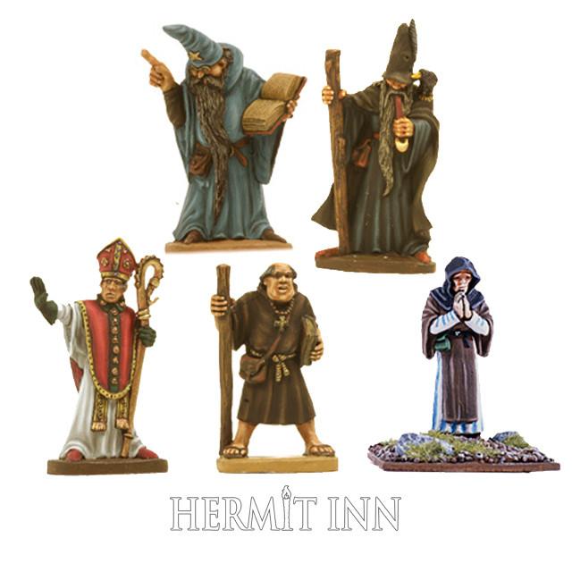 魔術師たちと聖職者たち(5体) - メイン画像