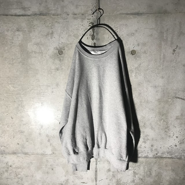 [used] side lettering grey sweat