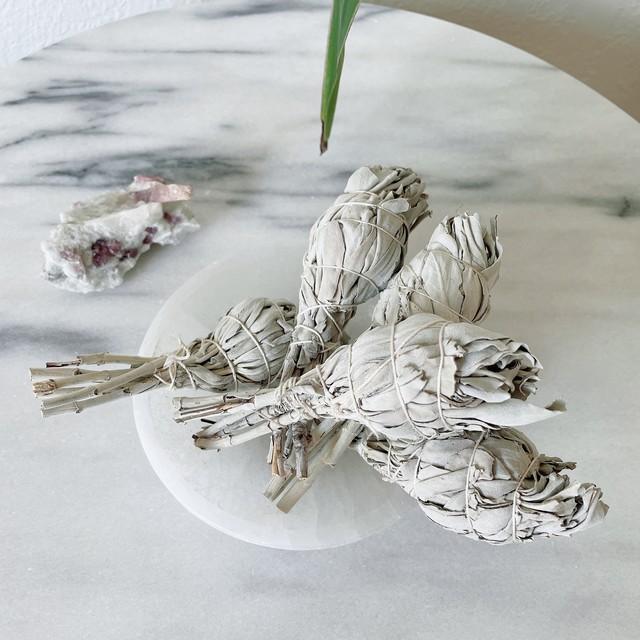ホワイトセージ2本セット  浄化のハーブ トーチ型