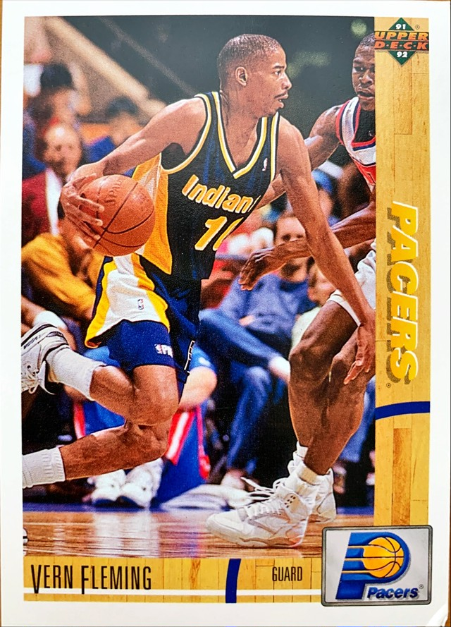NBAカード 91-92UPPERDECK Vern Fleming #238 PACERS