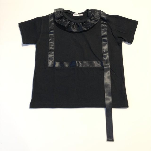 【21SS】フランキーグロウ ( frankygrow ) RIBBON BIG TEE[ S / M / L ]black Tシャツ トップス ビッグ