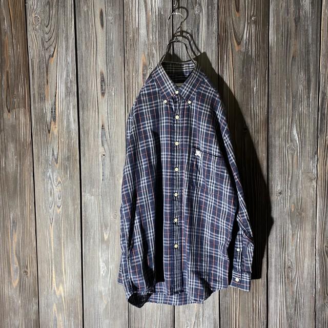 [Burberry]nova check navy shirt