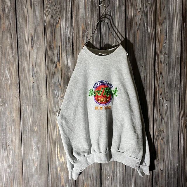 [Hard Rock Cafe]New York gray sweat