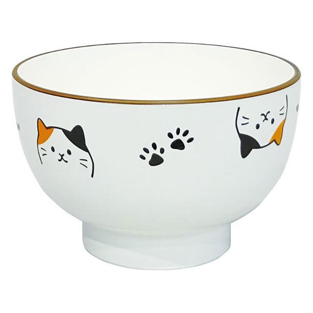 猫の醤油皿(振り向く)【磁器製】