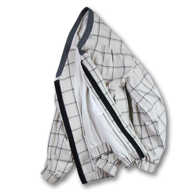 Cocoon sleeve blouson [Windowpane]