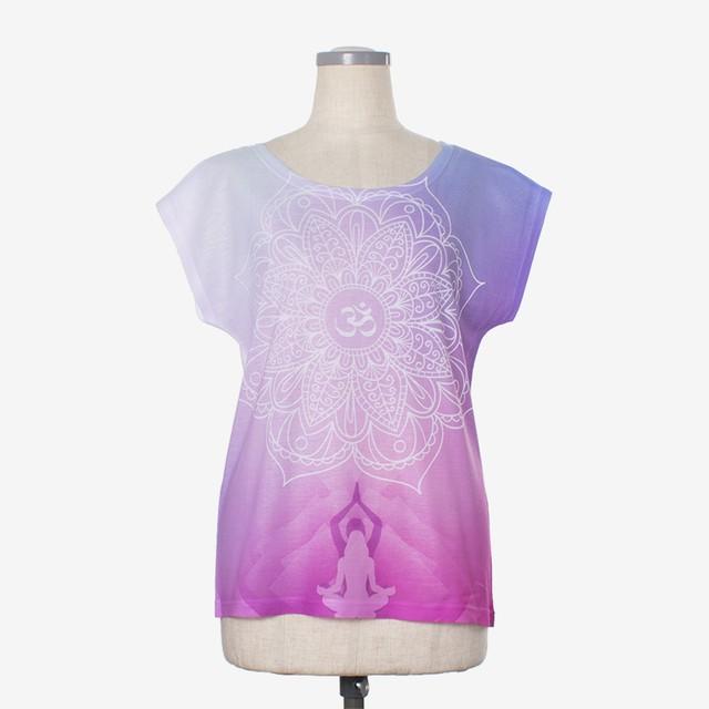 ヨガプリントTシャツ トワイライト Yoga print T-shirt Twilight