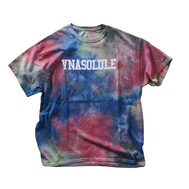 ANASOLULE/College Logo Tie Dye Tee【 Col. Neoncity 】