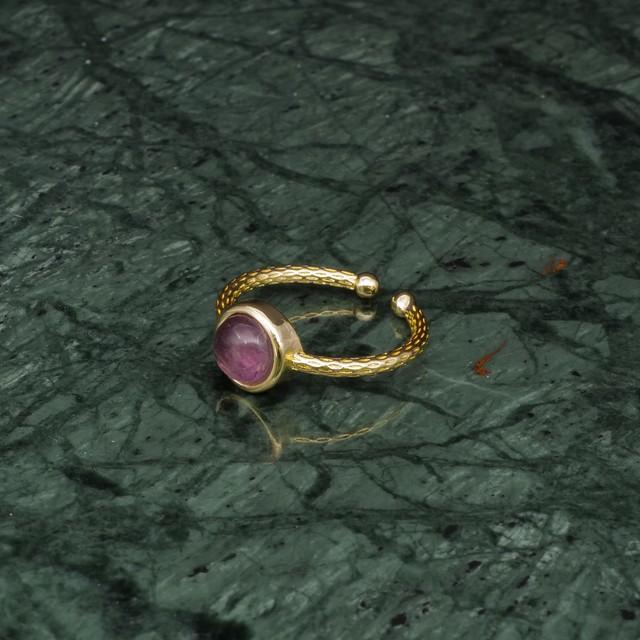 SINGLE MINI STONE RING GOLD 045