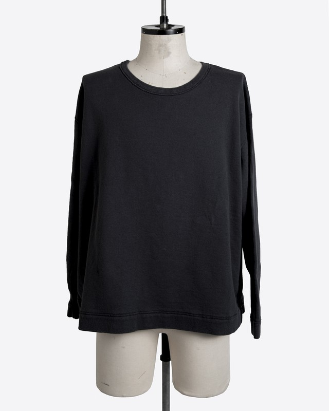 T/f reshaped detail sweat top - imperfection black