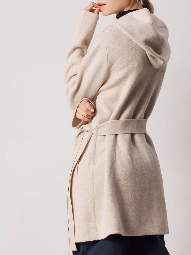 カシミアミドルコート./Albert Knit