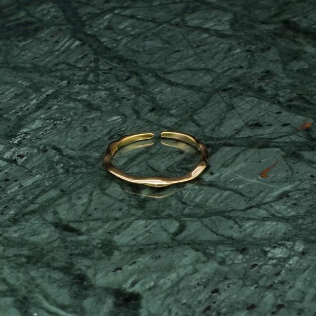 S925 IRREGULAR THIN RING GOLD 001