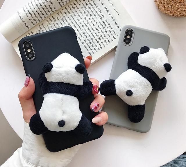 3D panda iphone case
