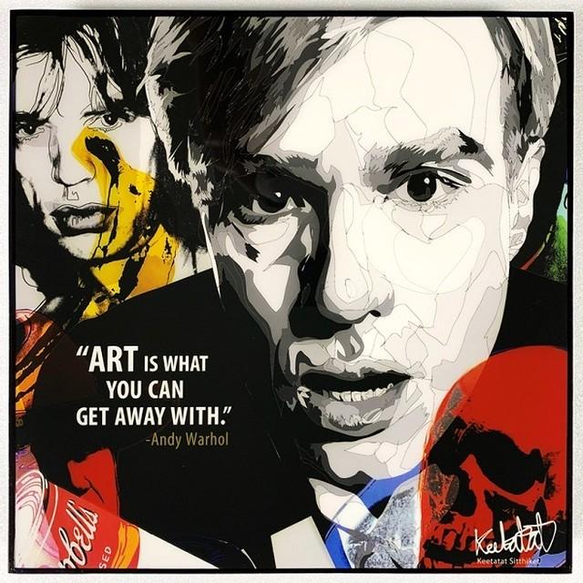 Andy Warhol (3) / アンディ ウォーホル「ポップアートパネル Keetatat Sitthiket」ポップアートフレーム ボード グラフィック ウォールアート 絵画 壁立て 壁掛けインテリア 額 ポスター プレゼント ギフト インスタ バナナ 画家 芸術家 キータタットシティケット